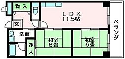 ソシアシューペリア 吉田本町1 吉田12分[4階]の間取り