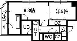 北海道札幌市中央区南十一条西6丁目の賃貸マンションの間取り