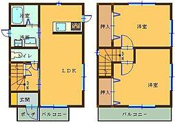 [一戸建] 埼玉県本庄市西富田 の賃貸【/】の間取り