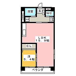 マイタウン錦町[2階]の間取り