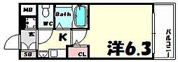 エステムコート新神戸エリタージュ[11階]の間取り