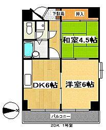 ランドマーク支倉[8階]の間取り