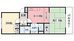 アメニティコート甲子園I(A)[104号室]の間取り