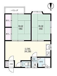 土井丸ホーム[108号室]の間取り