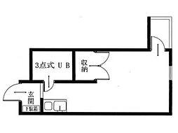 リナシメント河辺[1階]の間取り