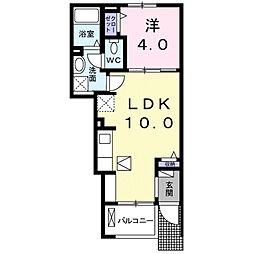 フルール・ユー[1階]の間取り