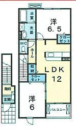 マードレ2[2階]の間取り