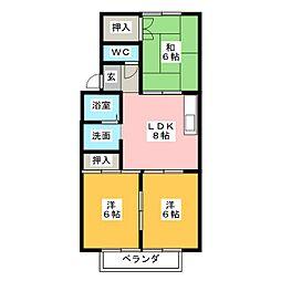 ハイツミニオン[2階]の間取り