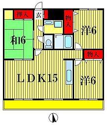 グレース松戸II[3階]の間取り