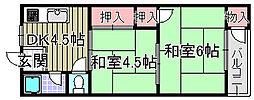 西田マンション[202号室]の間取り