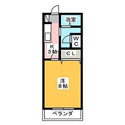 サン・friends坂下[2階]の間取り