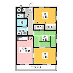 フォーザック鳥居通[4階]の間取り