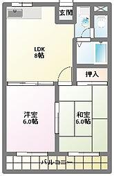 伊藤マンション[3階]の間取り