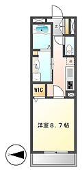 カスタリア新栄II[8階]の間取り