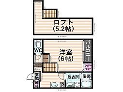 アネックス井尻[2階]の間取り
