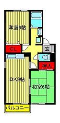 グリーンハイツ尾崎台[A201号室]の間取り