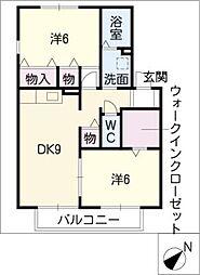 ヴィレッジさくらC棟[1階]の間取り