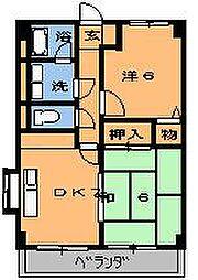 キンコーハウス都賀[103号室]の間取り