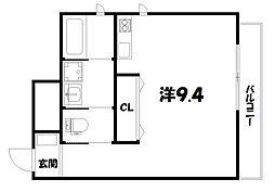 シャルール・デュ・ボア二条[3階]の間取り