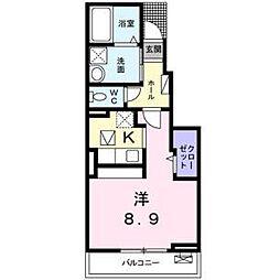 メゾン エーデル[1階]の間取り