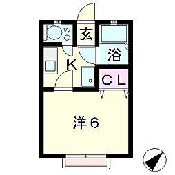 ハイツ吉田 B棟[2階]の間取り