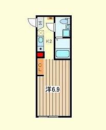 レ・ゼール3[1階]の間取り