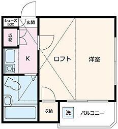 HESTIA2番館[2階]の間取り
