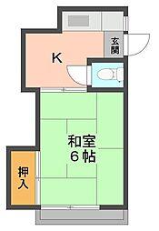 富士荘[104号室]の間取り
