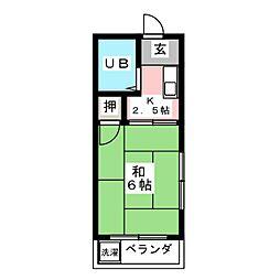 服部第2ビル[3階]の間取り
