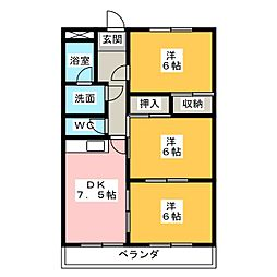 シティパレス山田A[2階]の間取り
