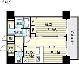 プレサンス阿波座ステーションフロント[7階]の間取り