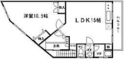 福山マンション[3階]の間取り
