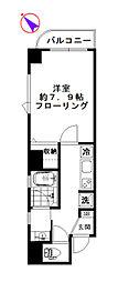 TESORO渋谷 6階1Kの間取り