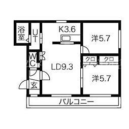 ブルーム[1階]の間取り