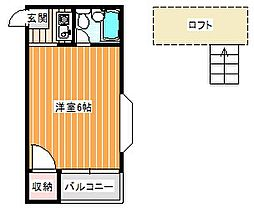 フォンタルT1[402号室]の間取り