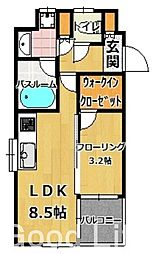 フォーサイト姪浜[5階]の間取り