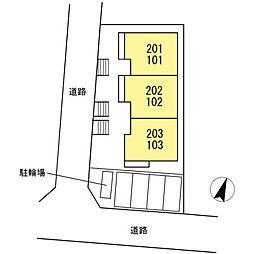 新築D-room亀井野2丁目[2階]の外観