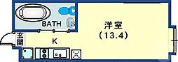 JR東海道・山陽本線 三ノ宮駅 徒歩9分の賃貸アパート 1階1Kの間取り