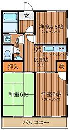 東京都武蔵野市吉祥寺南町4丁目の賃貸マンションの間取り