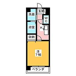 マ・メゾン小牧原 北館[3階]の間取り