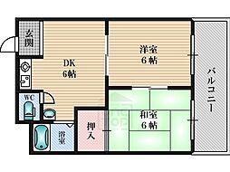 エリータ桃山台2[2階]の間取り