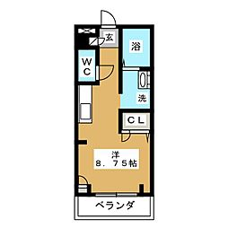 ルシミエント B[2階]の間取り