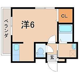 1524アンソレイユ[2階]の間取り