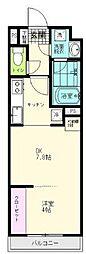 JR仙石線 陸前原ノ町駅 徒歩7分の賃貸アパート 2階1DKの間取り