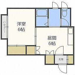 カメヤハイツII[2階]の間取り