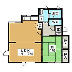 ベルシティSHIN[2階]の間取り