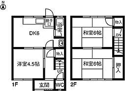 [テラスハウス] 愛知県稲沢市小池1丁目 の賃貸【愛知県 / 稲沢市】の間取り