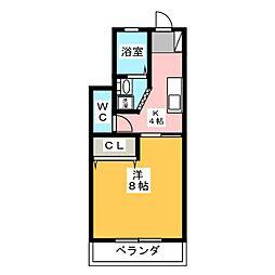 パークサイドイズミ[1階]の間取り