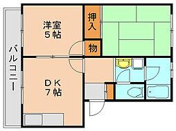 松崎コ−ポ[4階]の間取り