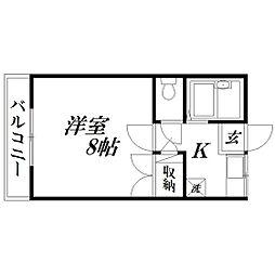 静岡県浜松市中区布橋1丁目の賃貸アパートの間取り
